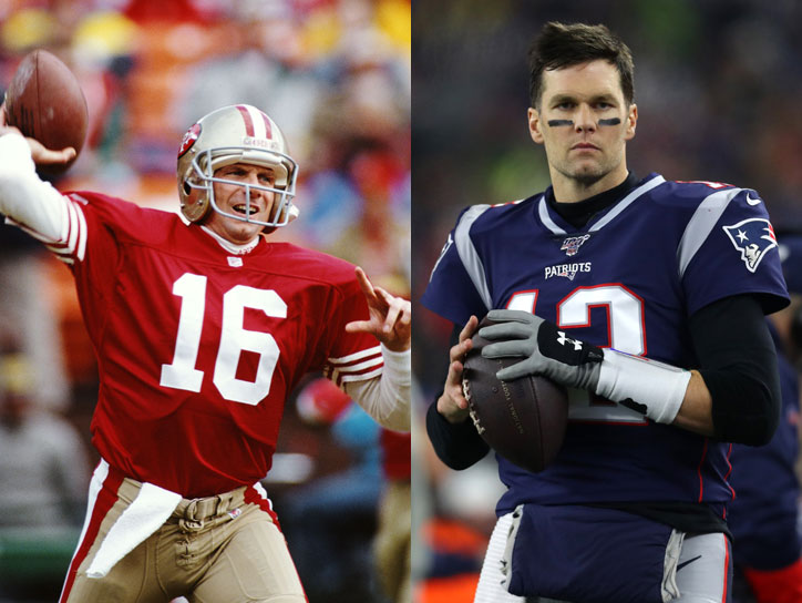 Joe Montana vs. Tom Brady