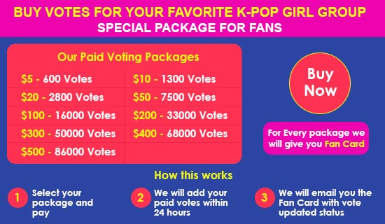 K-POP Girl Group Paid Votes